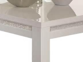 table basse laqu 233 e blanche