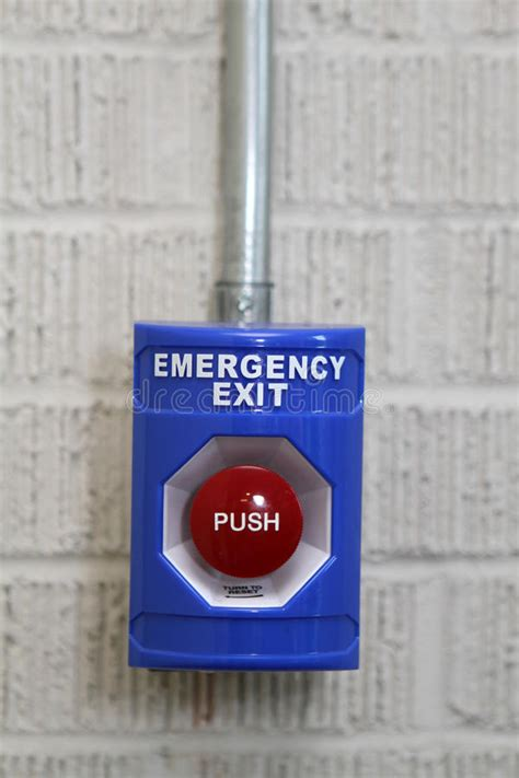 Emergency Exit Panic Button emergency exit push button stock images image 12879794