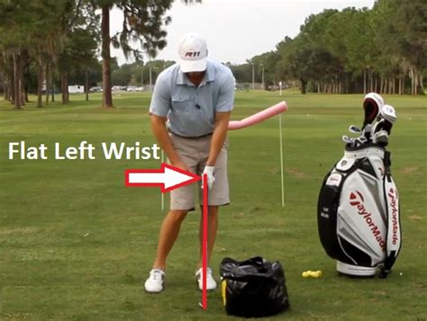 flat left wrist in golf swing how to hit high golf shots 9 days to amazing ball