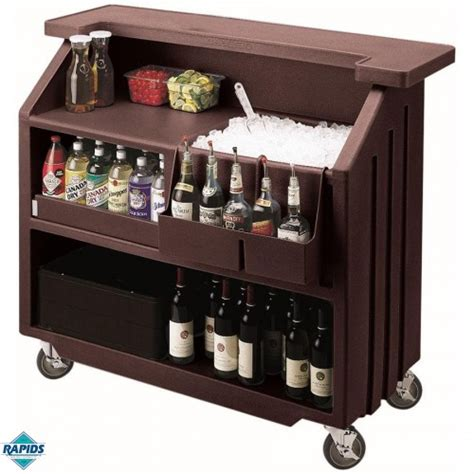mobile cocktail bars portable bar for events cambro mobile cocktail bar