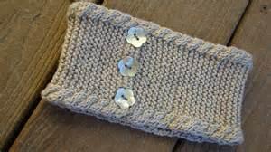 Knit winter headband