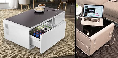 coffee table with built in refrigerator refrigerator coffee table