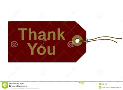 thank you letter for gift of stock thank you gift tag royalty free stock photography image