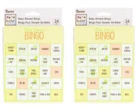 baby shower bingo the no fuss shower game babyprepping com