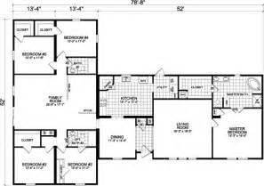 5 Bedroom Modular Home Floor Plans 5 Bedroom Floor Plans Five Bedroom Mobile Homes L 5