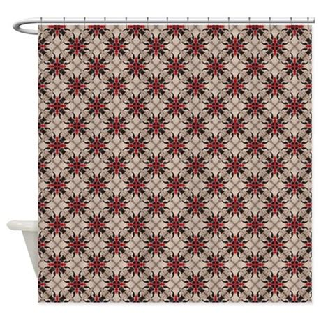 white and burgundy curtains burgundy white moroccan quatrefoil shower curtain by admin