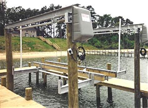 boat lift i beam overhead beam boat lift systems eastcoastboatlifts