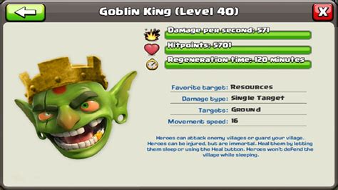 Coc Goblin King clash of clans goblin king update townhall 11 confirmed as