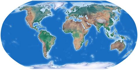 The World large detailed relief map of the world world mapsland