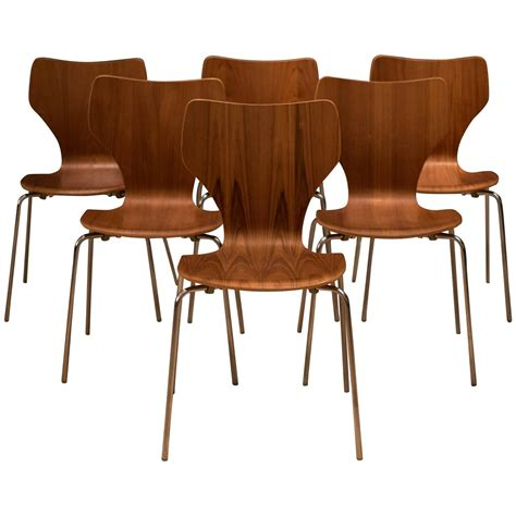 Teak Dining Room Furniture Teak Stacking Dining Chairs At 1stdibs