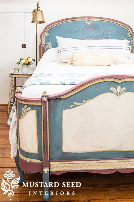 curiositaellya guest bedroom furniture makeover diy hand painted guest bed miss mustard seed s guest room