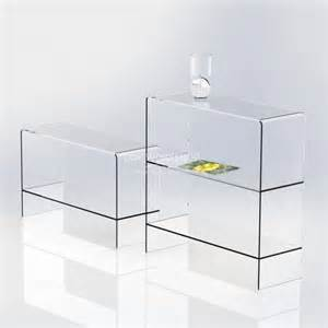 clear acrylic shelving clear acrylic table with shelf furniture