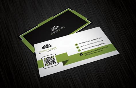 professional name card template clean white business card design free
