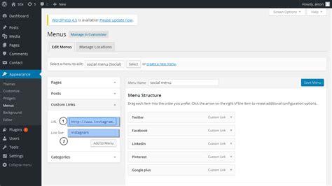 wordpress layout how to wordpress bloggings темы как работать с меню социальных
