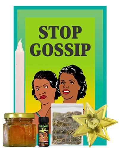 how to use stop gossip oil spell kits for hoodoo rootwork magick spell kits