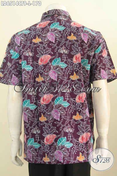 Koleksi Terbaru Kemeja Coklat Sw Kemeja Pria Katun Stretch 1 hem batik halus dasar coklat motif bunga kemeja lengan