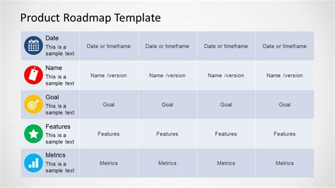 free product roadmap template product roadmap template for powerpoint slidemodel