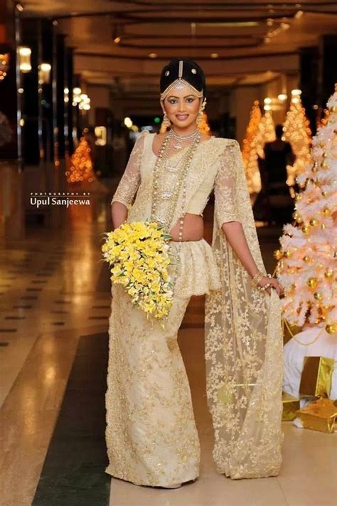 By Lucky Liyanage   Bridal Saree Designs   Pinterest