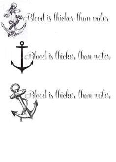 blood is thicker than water tattoo blood is thicker than water anchor infinity