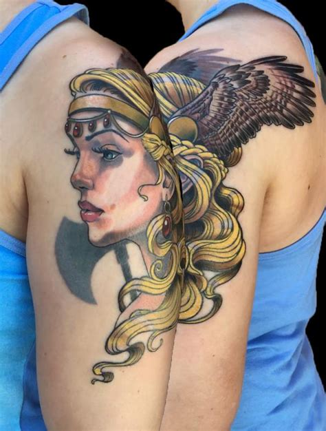 valkyrie tattoo instagram full color valkyrie tattoo by nicole laabs tattoonow
