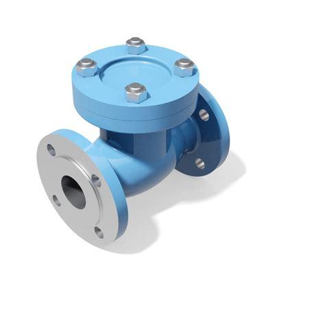 swing type check valve swing type check valves din pn16 pn40 3d cad models