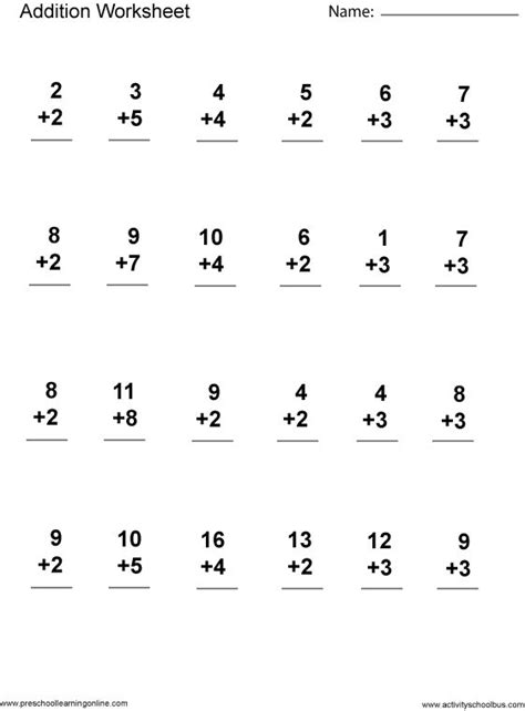 1st Grade Printable Math Worksheets by Addition 1st Grade Printable Grade Math Worksheets