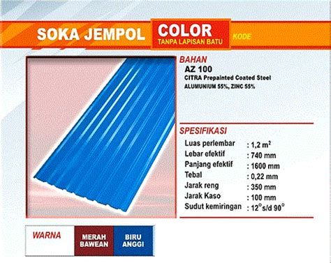 Multiroof Makassar atap zincalume genteng metal insulations translucent
