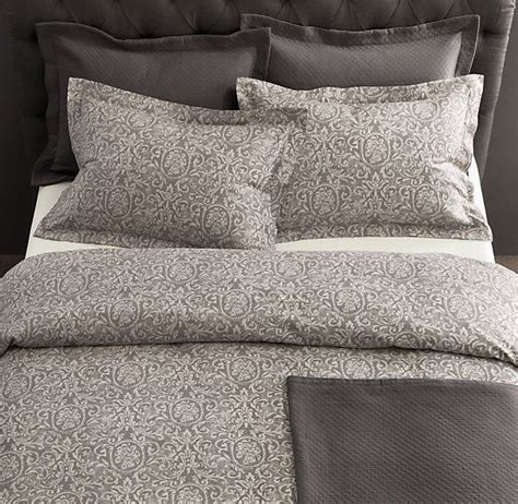 restoration hardware coverlet diamond matelass 233 sham in graphite cushions pinterest
