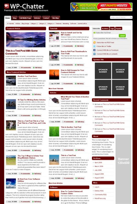 change layout of wordpress blog wp chatter wordpress theme solostream