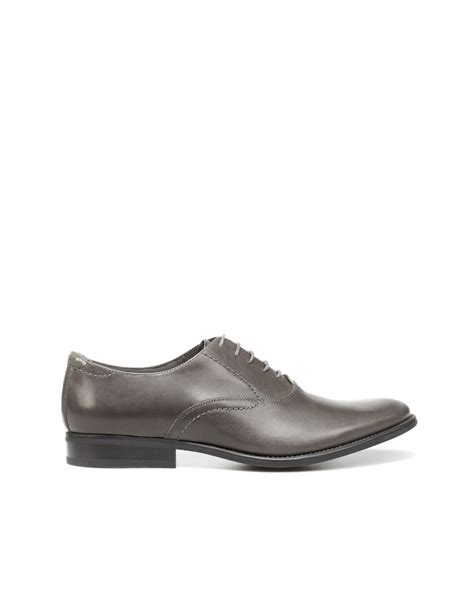 zara dress oxford shoes in gray for grey lyst