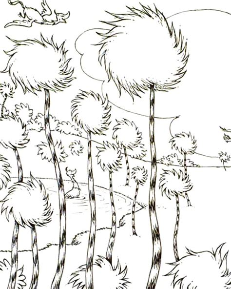 truffle tree coloring page dr seuss coloring sheets the lorax the lorax truffula