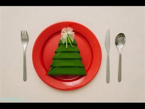 christmas tree napkin folding tutorial how to