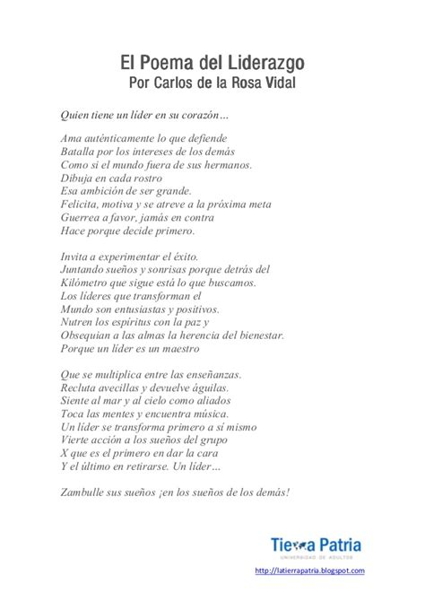 imagenes motivacionales de liderazgo el poema del liderazgo carlos de la rosa vidal