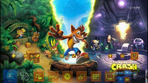 ps4 themes crash crash bandicoot n sane trilogy launch dynamic theme ps4