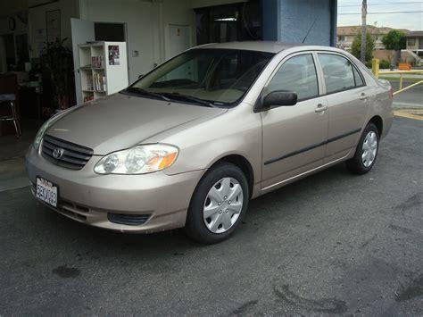 2003 Toyota Corolla T Tak Auto Service 2003 Toyota Corolla Ce Gold
