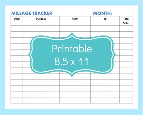 mileage log forms download free