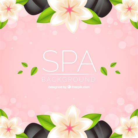 fiori day spa spa background with flowers and stones vector free