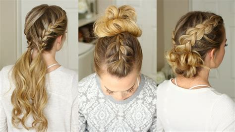 Braid Hairstyles For Easy by 3 Easy Braided Hairstyles Sue