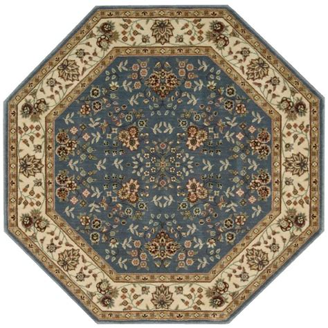 octagon rugs 7 nourison arts light blue 7 ft 9 in octagon area rug 698353 the home depot