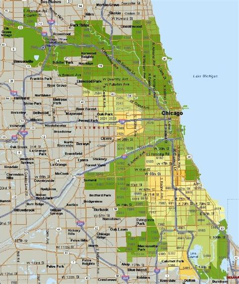 chicago map safe areas dangerous areas in chicago map