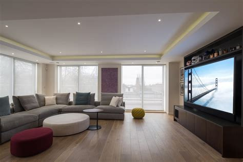 automated room automated blinds in living room finite solutions