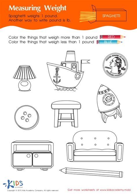 Weights More Than by Measurement For Free Printable Worksheets