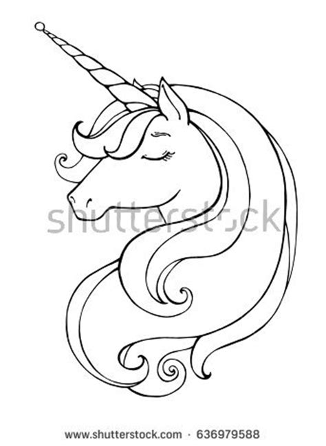 unicorn head drawing www pixshark com images galleries