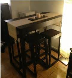 table chairs small spaces tables