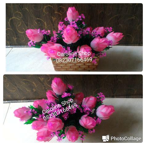 Kotak Akrilik Bunga Mawar Merah Preserved Flower kerajinan manik dan bunga akrilik jakarta bunga acrylic