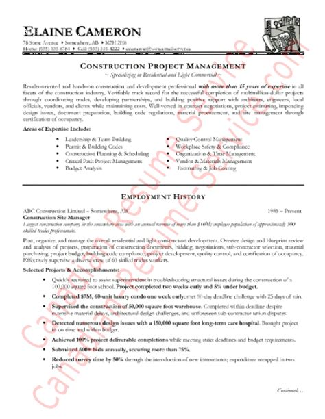 Construction Superintendent Resume Templates by Girlshopes