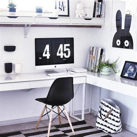 Ikea Besta Computer Desk by Black White Home Office With Ikea Besta Burs Desk