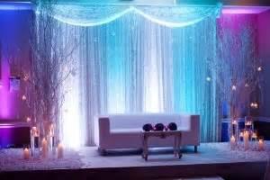 winter wonderland theme inspired stage decor  purple