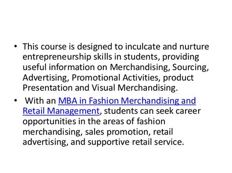 After Mba In Retail by Master Degree Program In Fashion Merchandising Retail