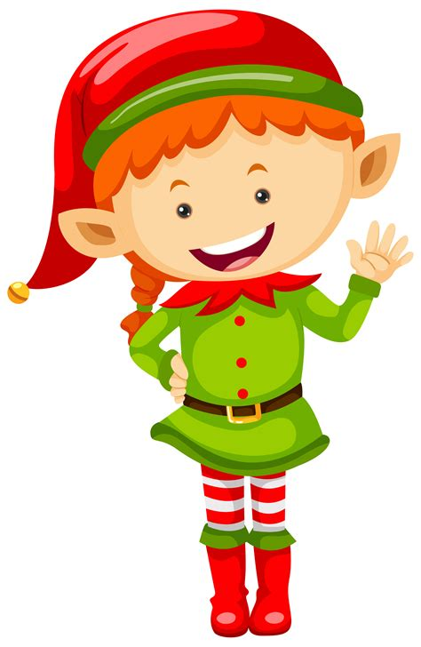female elf  green outfit   vectors clipart graphics vector art